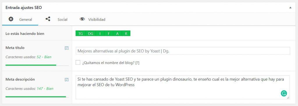 The SEO Framework Mejor Plugin de SEO para WordPress